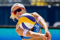 FIVB Světové série v plážovém volejbalu J&T Banka Ostrava Beach Open, 31. května 2019 v Ostravě. Na snímku Marketa Slukova - Nausch (CZE).
