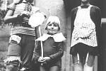 Jarmila Krhutobá, Ostrava, Morávka, dětský karneval, 1977.