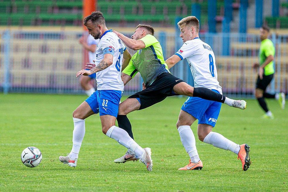 Fotbalista Lukáš Budínský se uvedl v Baníku Ostrava skvěle. Dvěma góly se podílel na výhře 3:0 nad Prostějovem v přípravném utkání v Havířově, sobota 3. 7. 2021.
