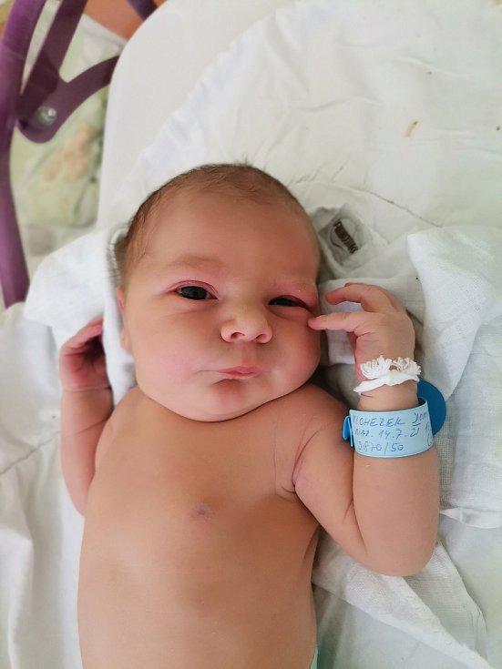 Dominik Vicherek z Havířova, narozen 14. července 2021 v Havířově, míra 50 cm, váha 3870 g. Foto: Michaela Blahová