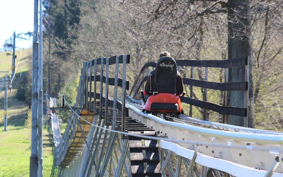Mosty u Jablunkova. bobová dráha a okolí, neděle 9. května 2021.