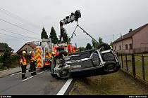 Dopravní nehoda se zásahem hasičů, Ostrava-Hrabová, 11. července 2021.