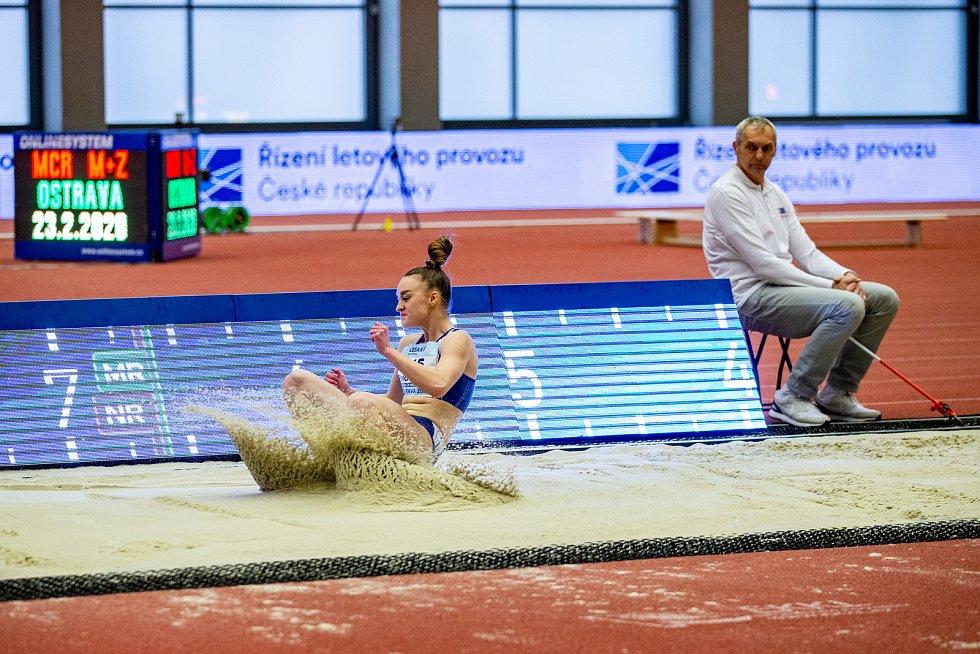 Halové mistrovství ČR mužů a žen v atletice, 23. února 2020 v Ostravě. Tereza Šínová (Atletika Jižní Město).