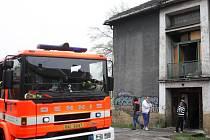 Požár v Jílové ulici v Ostravě-Přívoze