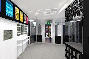 Vizualizace infocentra na nádraží