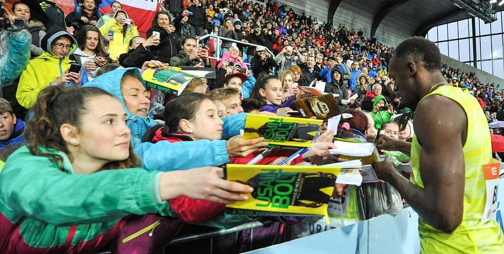 Zlatá tretra Ostrava 2015, na snímku Usain Bolt