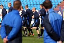 Fotbalisté Baníku při tréninku, Ilustrační foto.