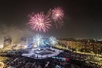 Novoroční ohňostroj v městské části Ostrava-Jih