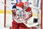 Mistrovství světa hokejistů do 20 let, skupina B: Kanada - ČR, 31. prosince 2019 v Ostravě. Na snímku brankář Česka Malik Nick.