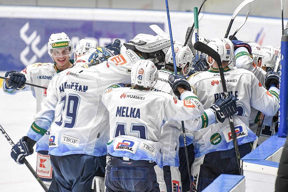 Utkání semifinále play off Chance ligy - 4. zápas: HC RT TORAX Poruba 2011 - Rytíři Kladno, 7. dubna 2021 v Ostravě.