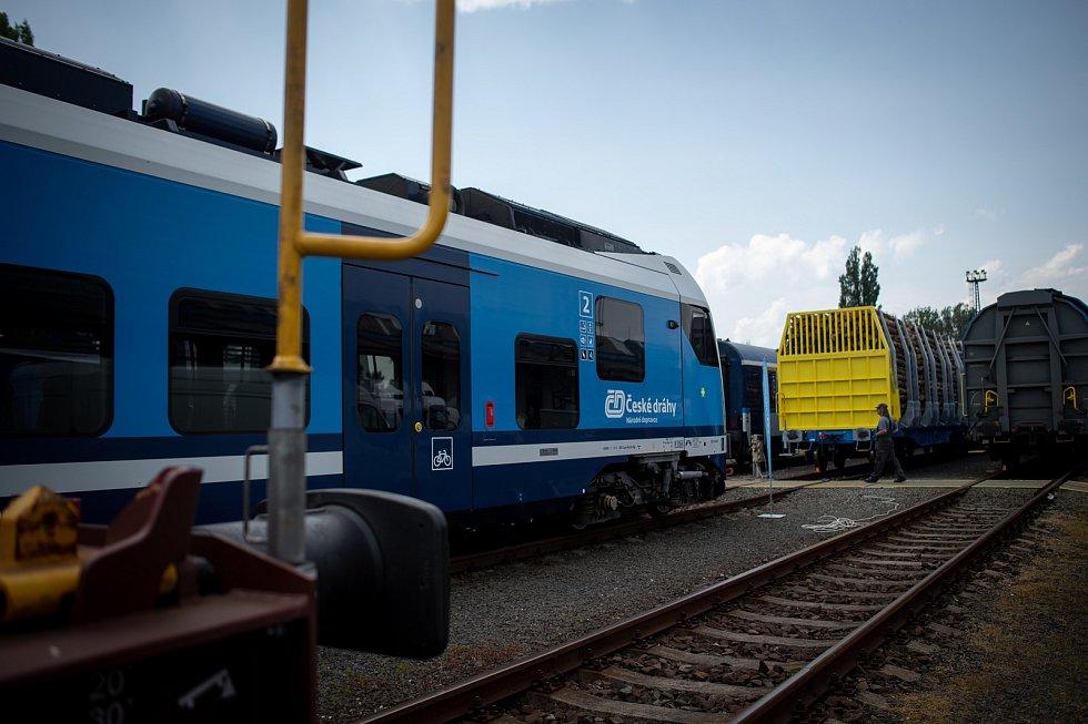 Poslední přípravy na Czech Raildays, 10. června 2019 v Ostravě.