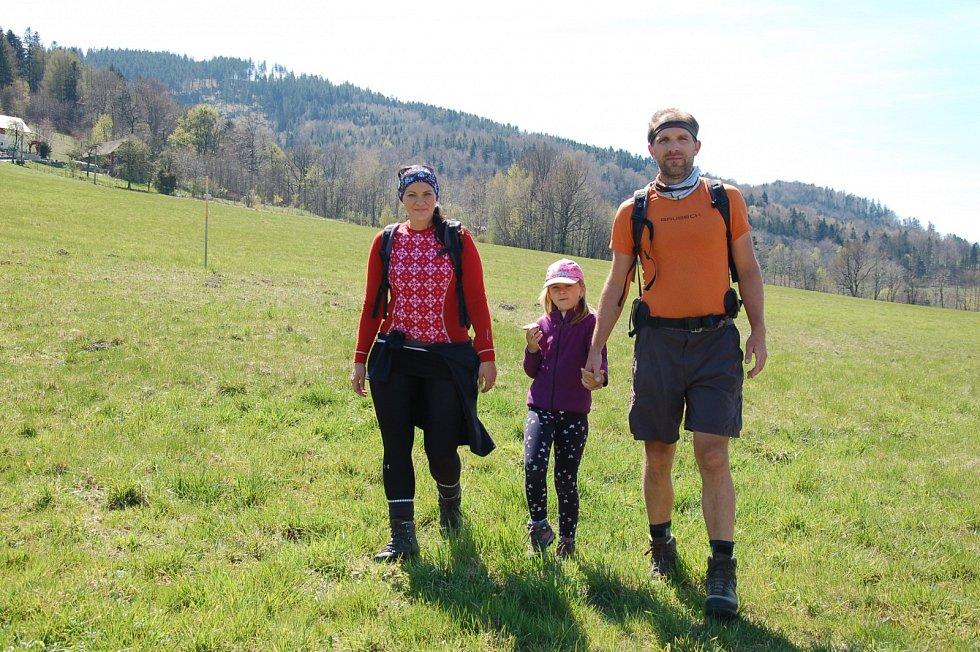 Martin Stiller s manželkou a dcerou