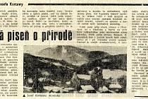 Sken článku z novin Ostravský večerník, 3. 1. 1984.