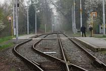 Jednokolejná tratť číslo 5 mezi Porubou a Kyjovicemi