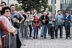 Téměř plné náměstí Svobody přivítalo prezidenta Miloše Zemana v Třinci.