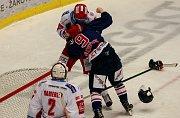 Derby 52. kola hokejové extraligy: HC Oceláři Třinec - HC Vítkovice Ridera.