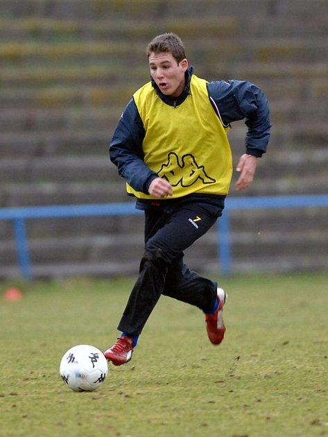 Hráč Baníku Jiří Böhm je oporou juniorky a příslibem pro první tým.