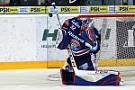 Brno 1.3.2019 - domácí HC Kometa Brno v bílém proti HC Vítkovice (Patrik Bartošák)