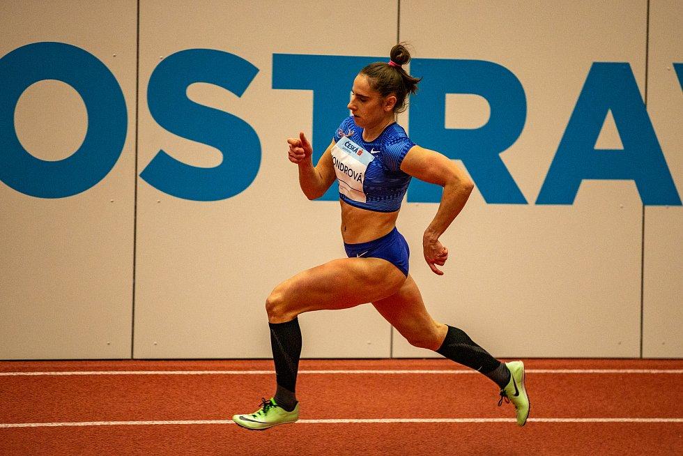 Mezinárodní halový atletický mítink Czech Indoor Gala 2020, 5. února 2020 v Ostravě. Běh 400m ženy Lada Vondrová z Česka.
