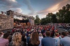 Letní shakespearovské slavnosti na Slezskoostravském hradě v Ostravě, červenec 2017.