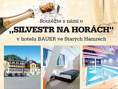 """Soutěžte s námi o """"SILVESTR NA HORÁCH"""" v hotelu BAUER ve Starých Hamrech."""