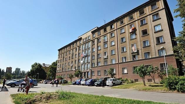 Ubytovna u náměstí SNP v Ostravě-Zábřehu.