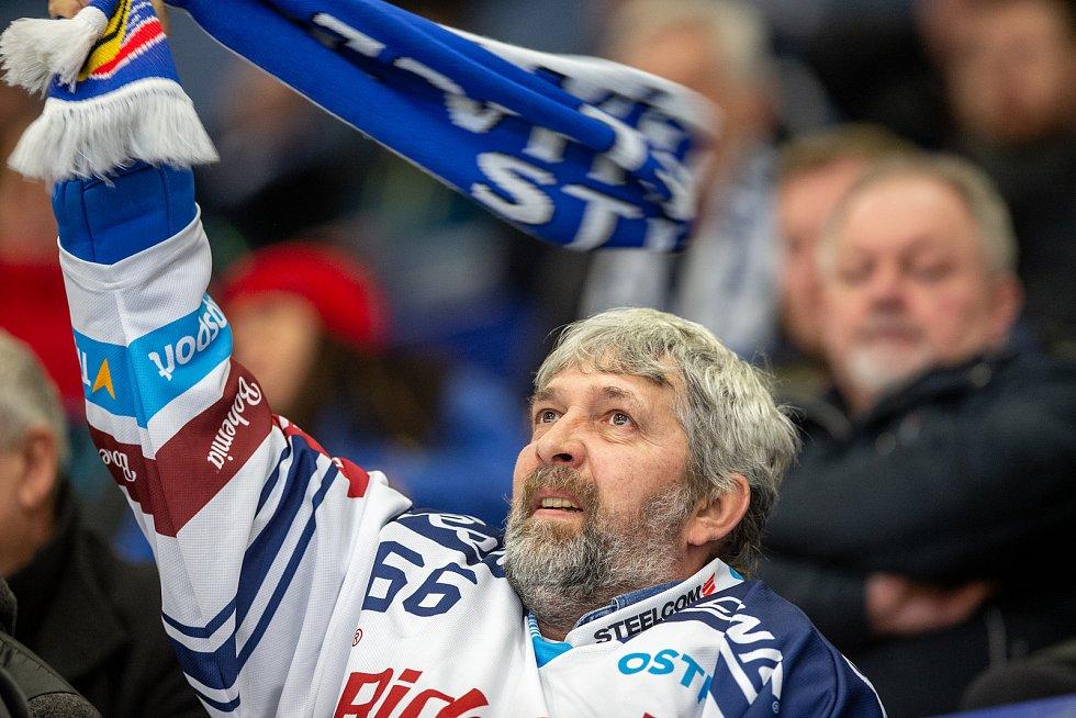 Utkání 29. kola hokejové extraligy: HC Vítkovice Ridera - Bílí Tygři Liberec, 21. ledna 2020 v Ostravě. Na snímku fanoušci.