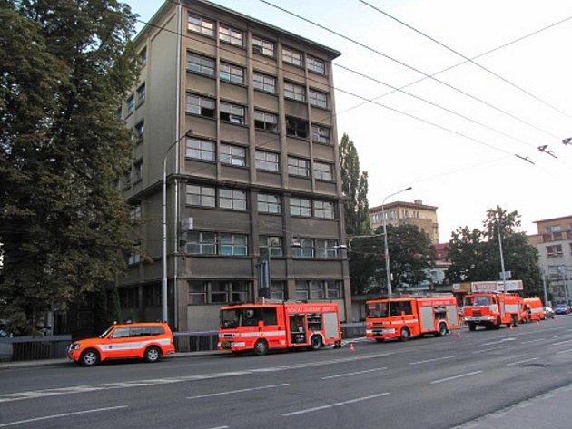 Požár kanceláře v centru Ostravy