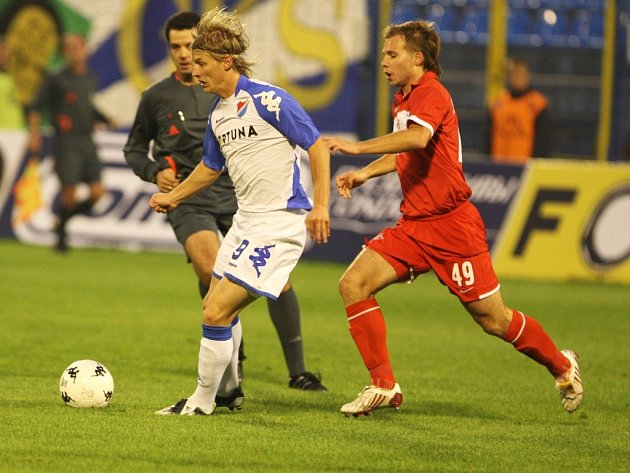 Z utkání Baník Ostrava - Spartak Moskva