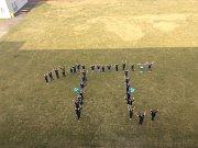 Takzvaný Pí day neboli Den pí oslavili i ve Wichterlově gymnáziu v Ostravě, které má toto řecké písmeno ve znaku.