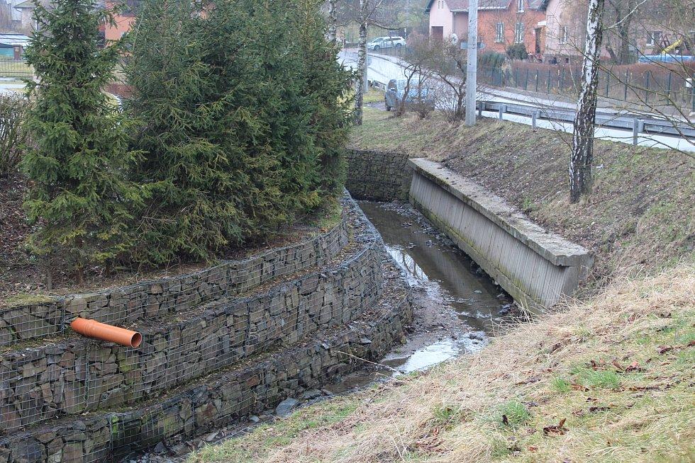 Starobělský potok ve Staré Bělé.