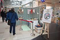 Výstava retro pokojů v Avion Shopping Park, 17. března 2019 v Ostravě.