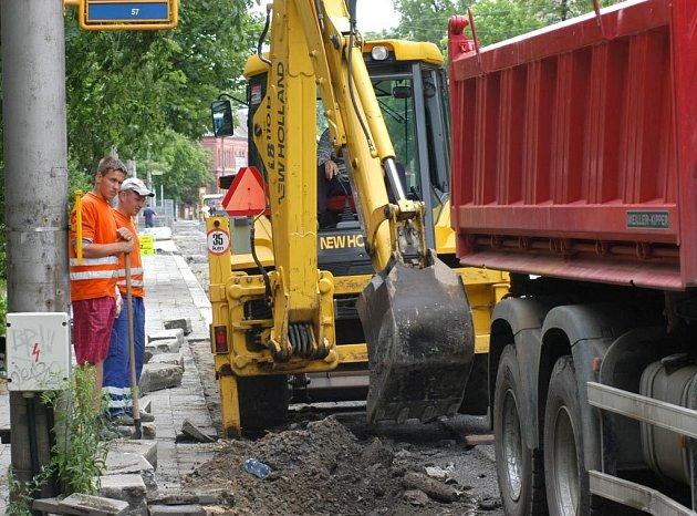 Ruská ulice v Ostravě-Vítkovicích v červenci 2008