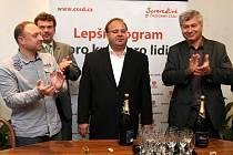 Vítěz krajských voleb - volební štáb ČSSD.
