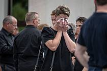 Pohřeb obětí požáru z Bohumína, 27. srpna 2020 v Karviné.