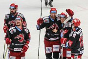 Snímek ze zápasu Ocelářů Třinec v play off hokejové extraligy. Ilustrační foto.