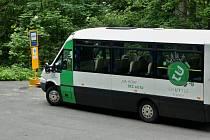 """Beskydský """"TU-bus"""" - shuttle bus pod Lysou horou."""