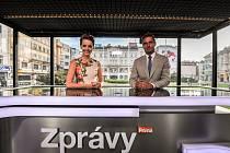 TV Prima vysílala své zprávy z Masarykova náměstí v Ostravě.