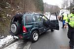 Dopravní nehoda ve Starých Hamrech.