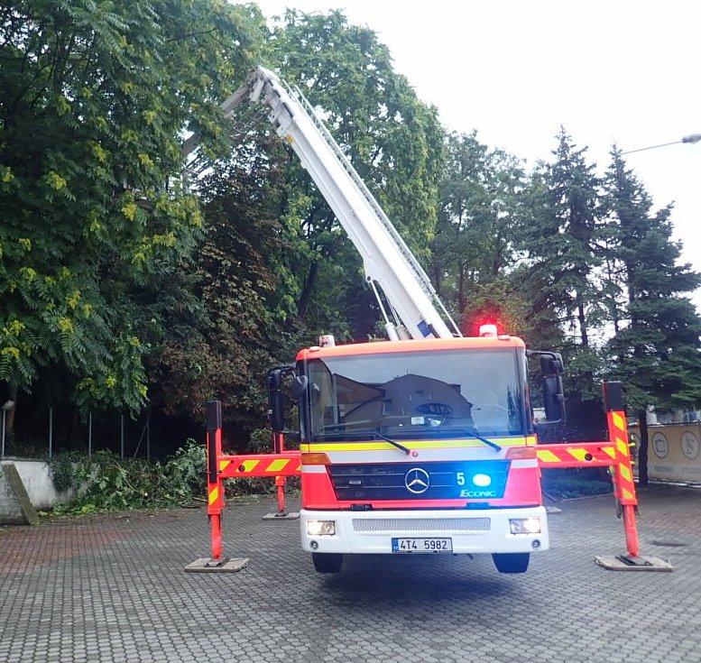 Zásah hasičů v Moravskoslezském kraji po deštích, 5. srpna 2021.