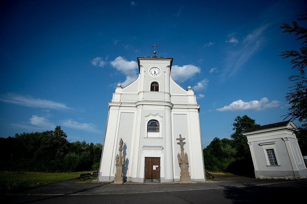 Kostel svatého Petra z Alkantary na Karvinsku, 15. července 2019.