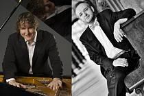 Hvězdy nadcházející sezóny Janáčkovy filharmonie Ostrava. Vlevo Lukáš Vondráček, vpravo Milan Kasík.