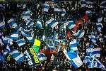 Utkání 16. kola fotbalové Fortuna ligy: FC Baník Ostrava - MFK Karviná, 8. listopadu 2019 v Ostravě. Na snímku kotel fanoušků FC Baník Ostrava.