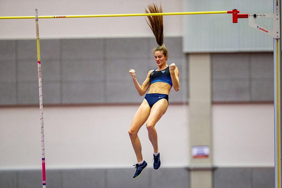 Halové mistrovství ČR mužů a žen v atletice, 23. února 2020 v Ostravě. Zuzana Pražáková (TJ Sokol Kolín).