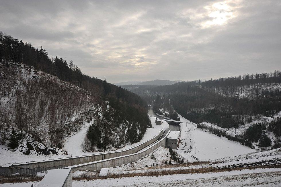 Vodní nádrž Slezská Harta na Bruntálsku. Ilustrační foto.