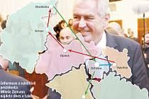 Prezident Miloš Zeman stráví v Moravskoslezském kraji tři dny.