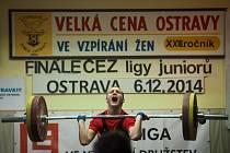 Finále ligy juniorů ve vzpírání v Ostravě.