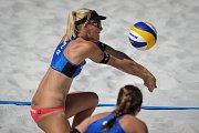 Turnaj Světového okruhu v plážovém volejbalu, 21. června 2018 v Ostravě. Na snímku Markéta Sluková.