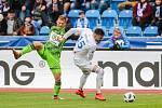 Utkání 25. kola první fotbalové ligy: FC Baník Ostrava - FK Mladá Boleslav, 16. března 2019 v Ostravě. Na snímku (zleva) Michal Hubínek, Patrizio Stronati.