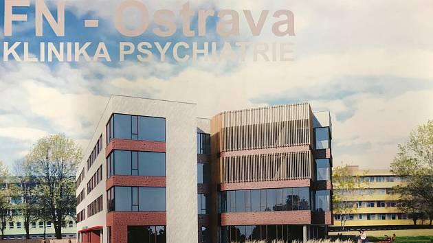 Výstavba psychiatrického pavilonu v areálu ostravské fakultní nemocnice by měla být zahájena letos na podzim.